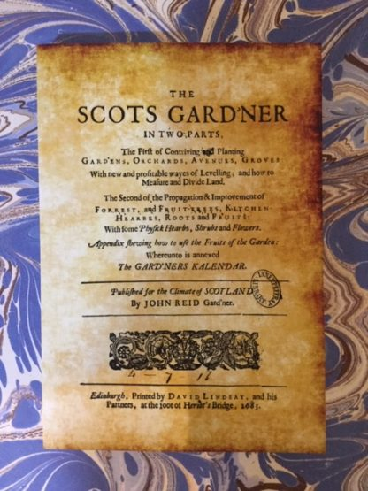 A facsimile copy of the Scots Gard'ner book