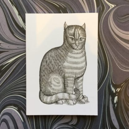 A6 notebook with cat print on cover