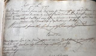 handwritten borrower record