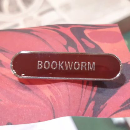 Enamel badge Bookworm