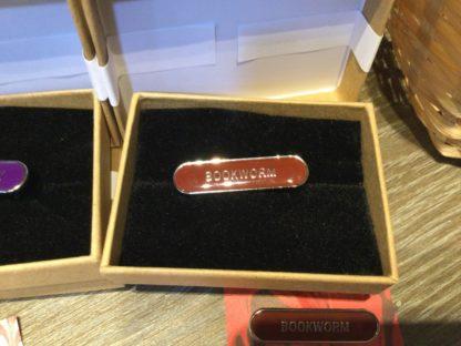 Enamel badge in box Bookworm
