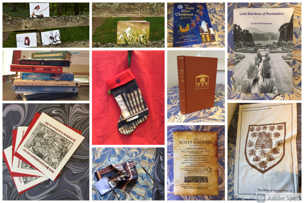 collage of gifts, books, cards